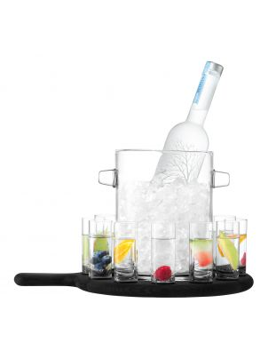 LSA Paddle Vodka Serving Set & Oak Paddle - 70ml