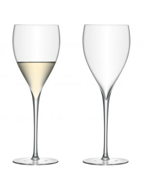 LSA Savoy White Wine glasses - Clear 380ml (set of 2)