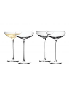 LSA Wine Collection Champagne Saucers - 300ml (Set of 4)