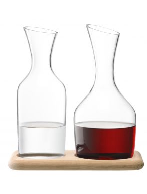 LSA Wine Collection Water & Wine Carafe Set - Clear 1.2L, 1.4L