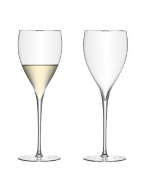LSA Savoy Wine glasses - Platinum 380ml (set of 2)