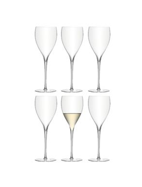 LSA Savoy Wine glasses 380ml - Clear (set of 6)