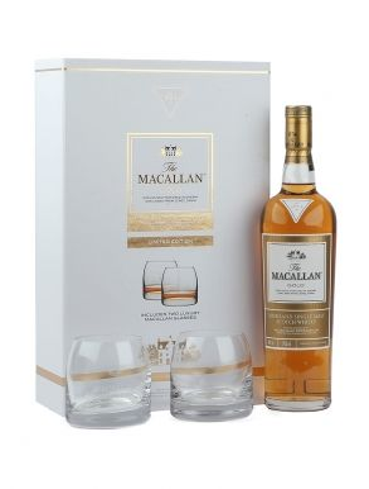 Macallan 1824 Series Gold Whisky 70cl Tumbler Gift Set