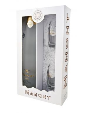 Mamont Siberian Vodka 70cl & 2 Shot Glasses Gift Pack