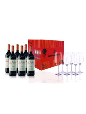 Marques de Murrieta Tinto Reserva 2009 Wine 6 x 75cl with 6 x Glasses