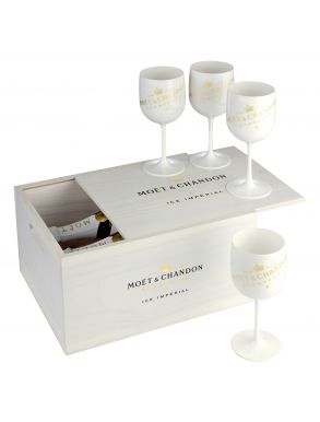 Moet & Chandon Ice Imperial Champagne 2x75cl Bottles & 4 Glasses Set