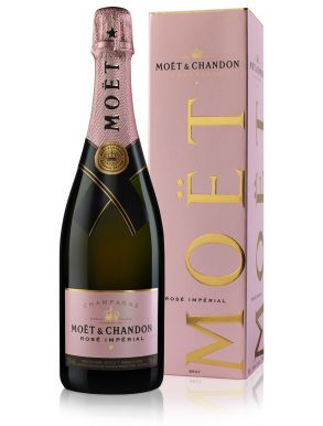 Moet & Chandon Rose Brut Imperial Champagne NV 75cl Gift Box