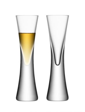 LSA Moya Liqueur / Vodka Glasses - Clear 50ml (Set of 2) Gift Box