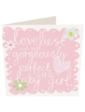 Loveliest Perfect Little Baby Girl Gift Card