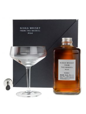 Nikka Whisky Co - Nikka from the Barrel 50cl Coupe Glass & Pourer Set