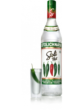 Stoli Hot Jalapeno Flavoured Stolichnaya Premium Vodka 70cl