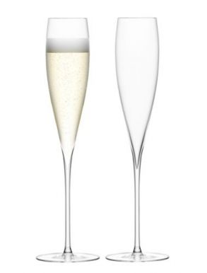 LSA Savoy Champagne Flutes - Clear 200ml (Set of 2)