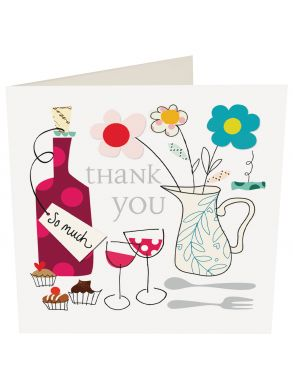Thank You Wine And Flowers Gift Card