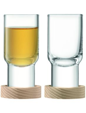 LSA Utility Vodka Glass & Ash Coasters - 60ml (Set of 2)
