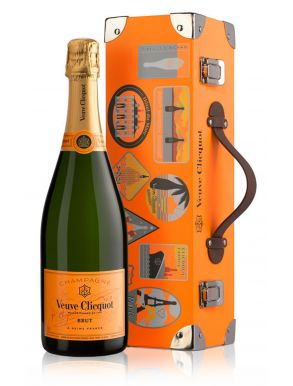 Veuve Clicquot Yellow Label Brut Champagne NV Trunk Gift Box 75cl