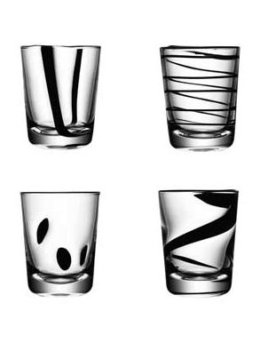 LSA Jazz Black Tumblers - 250ml (set of 4)