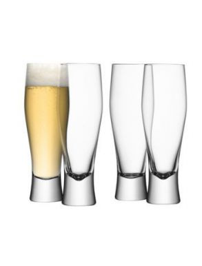 LSA Bar Collection Lager Glasses - 400ml (Set of 4) Gift Box