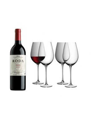 Roda Reserva 2011 Rioja Wine & LSA Red Wine Goblet Glasses Wine Gift