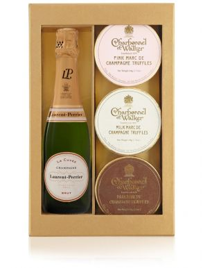 Laurent Perrier Mini Champagne & Truffle Trio Gift Set