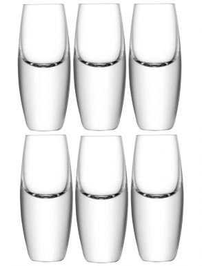 LSA Bullet Shot Glasses - 70ml (Set of 6)
