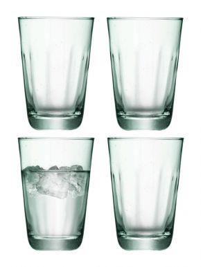 LSA Mia Recycled Glass Highballs 350ml (Set of 4)