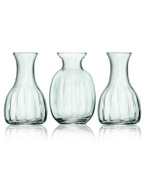 LSA Mia Recycled Glass Mini Vase Trio (Set of 3)