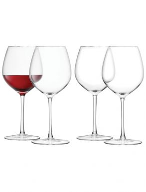 LSA Wine Collection Red Wine Glasses - Clear 400ml (Set of 4)
