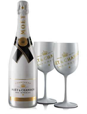 Moet & Chandon Ice Impérial NV Champagne 75cl & 2 Flutes Gift Set