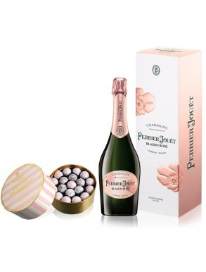 Perrier Jouet Blason Rose Brut Champagne NV 75cl & Pink Truffles 650g