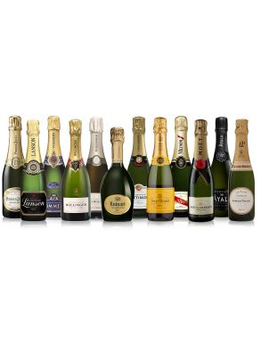 The Grande Marques Champagne Half Bottle Collection 12 x 37.5cl
