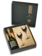 Deutz Brut NV Champagne 75cl  & 2 Flute Gift Set
