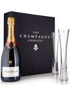 Bollinger Champagne 75cl & LSA Moya Flutes Luxury Gift Box