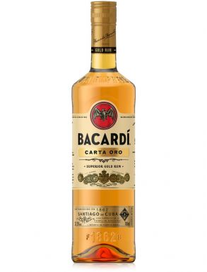 Bacardi Carta Oro Superior Gold Rum 75cl