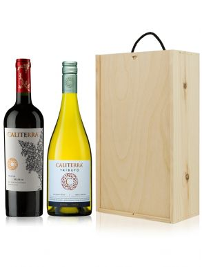 The Caliterra Wine Gift - Chile - 2 Bottles & Wooden Gift Box