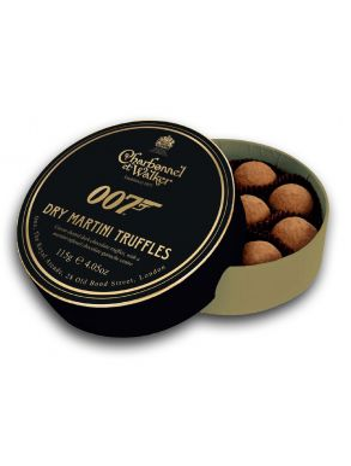 Charbonnel & Walker Dark Chocolate Martini 007 Truffles 115g