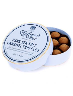 Charbonnel & Walker Dark Sea Salt Caramel Truffles 120g