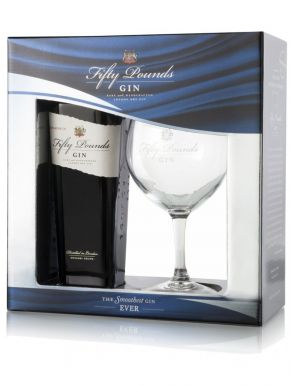Fifty Pounds Gin 70cl Glasses Gift Set