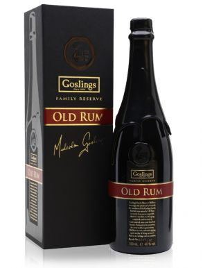 Goslings Family Reserve Old Rum Wooden Gift Box Bottle no , 4806/15 70cl