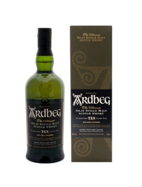 Ardbeg 10 Year Old Islay Single Malt Scotch Whisky 70cl Gift Box