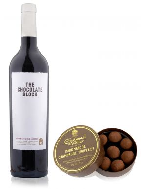 Boekenhoutskloof Chocolate Block Wine 75cl & Dark Truffles 135g