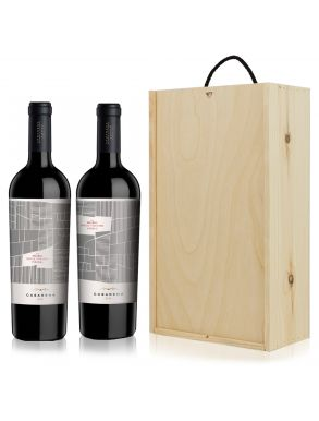 Casarena Single Vineyard Malbec Argentina Wine Gift Set Duo 75cl