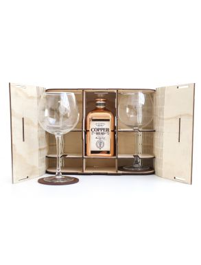 Copper Head Gin 50cl and Glasses Gift Set