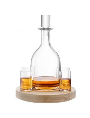 LSA Lotta Decanter & Glasses Set Ash Base - 0.95L