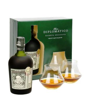 Diplomatico Reserva Exclusiva 70cl 2 x Glass Pack