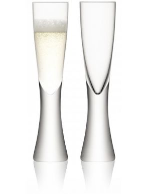 LSA Elina Champagne Flutes - 200ml (Set 2) Gift Box