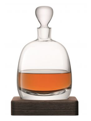 LSA Whisky Islay Decanter & Walnut Base - Clear 1L