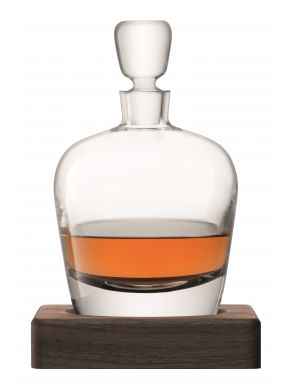 LSA Whisky Arran Decanter & Walnut Base - Clear 1L