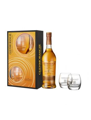 Glenmorangie Highland Single Malt 10 Year Whisky & 2 Tumblers Gift Set