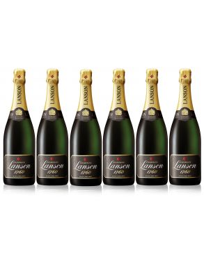 Lanson Black Label Brut NV Champagne Case Deal 6 x 75cl