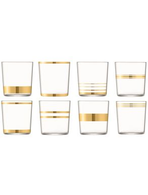 LSA Deco Tumblers - Gold 390ml (Set of 8)